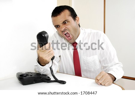 Businessman on the telephone