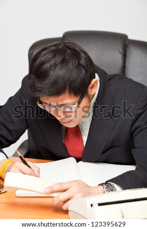 Businessman on thinking concept idea