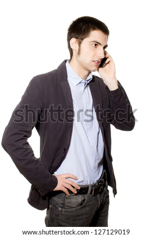 businessman on white background - stock photo