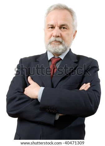 Businessman on white background (isolated). - stock photo