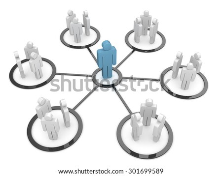 Businessman - organization , This is a computer generated and 3d rendered picture. - stock photo