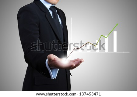 Businessman planning to success. - stock photo