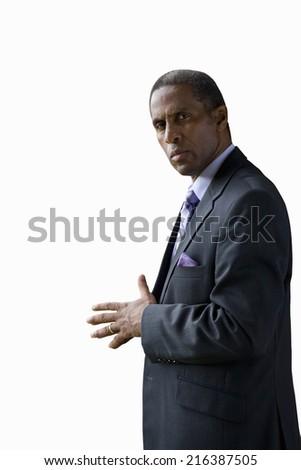 Businessman, portrait, cut out - stock photo