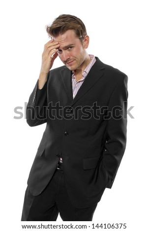 businessman posed for modular composites - stock photo