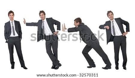 businessman positions - stock photo