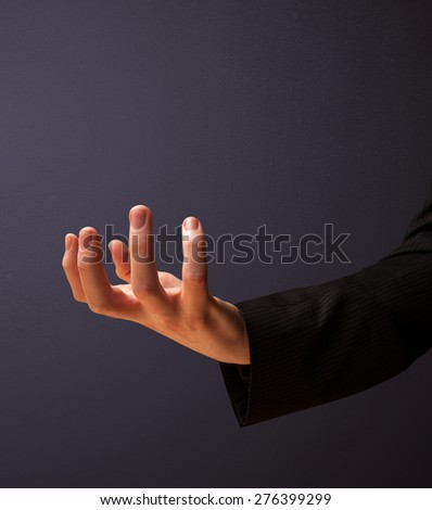 Businessman presenting empty space