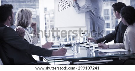 Businessman presenting new project to partners - stock photo