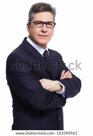 Businessman. Professional accountant and bookkeeper portrait. - stock photo