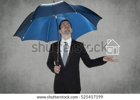 Businessman protect your home