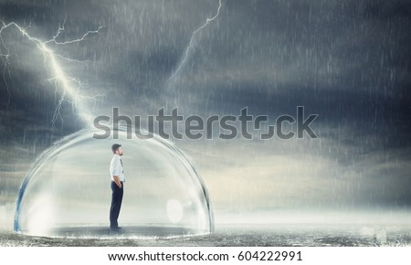Businessman protected from the crisis