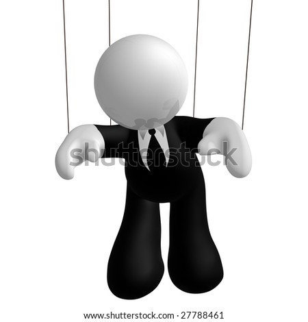 Businessman puppet