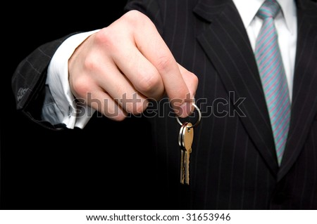 Businessman -  real estate concept - stock photo