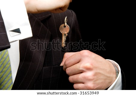 Businessman -  real estate concept - stock photo