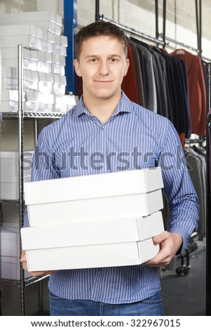 Businessman Running On Line Fashion Business