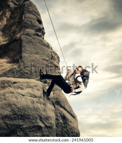 Businessman's challenge - stock photo