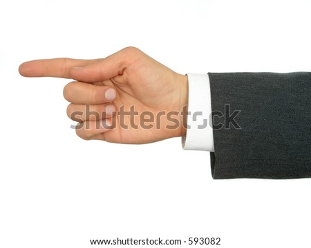 Businessman's Hand Pointing Finger