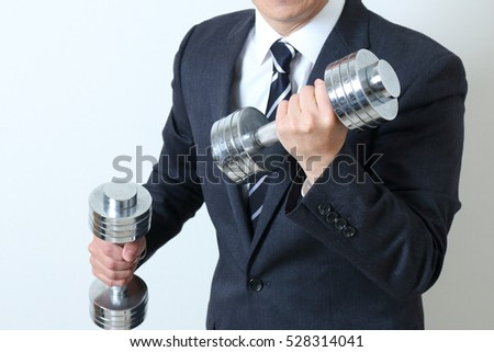 Businessman's physical strength