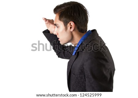 businessman searching - stock photo