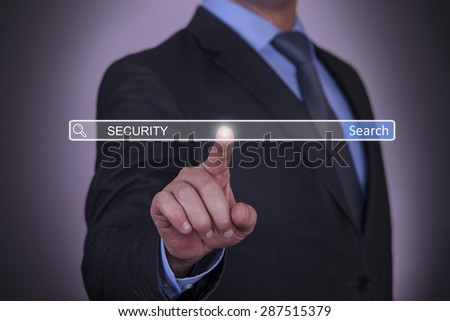 Businessman Searching Security