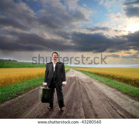 businessman searching work