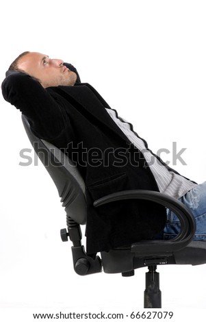 businessman seating on a chair