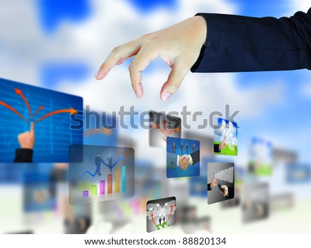 businessman select business collection - stock photo