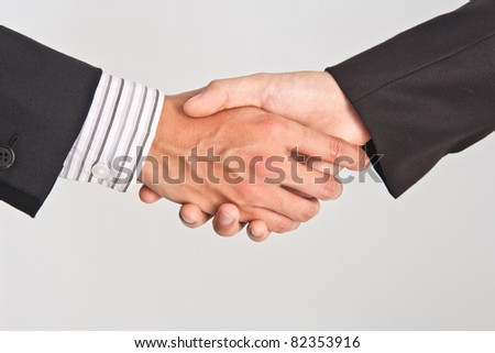 Businessman shaking hand - stock photo