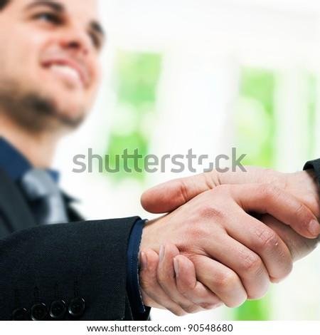 Businessman shaking hands - stock photo