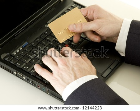 businessman shopping online - stock photo