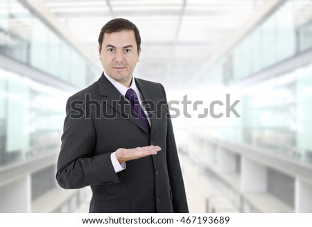 businessman showing is hand, at the office