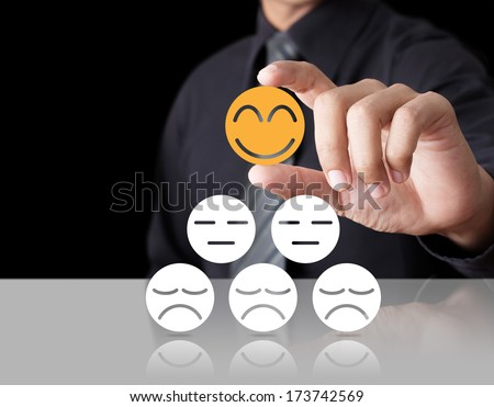 Businessman showing leadership individuality success concept - stock photo