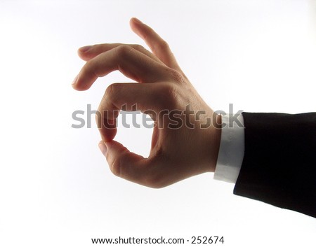 businessman showing the ok sign - stock photo