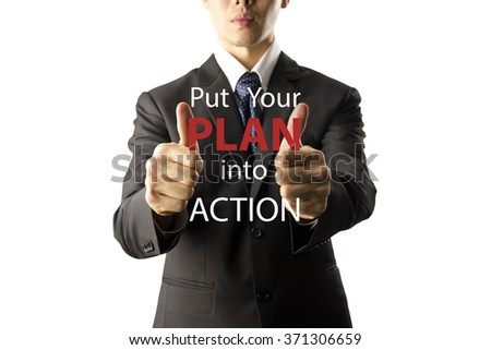 businessman showing thumbs up isolated over white background.info graphic - stock photo