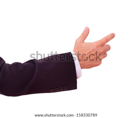 businessman shows clicks on your advertisement - stock photo