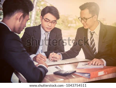businessman, sign contract and Business investment, teamwork for achievement