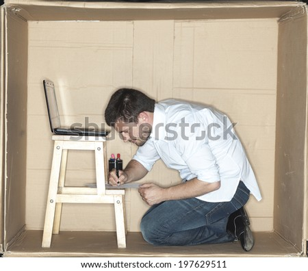 Businessman signs a contract - stock photo