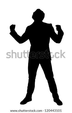 Businessman silhouette isolated on white background