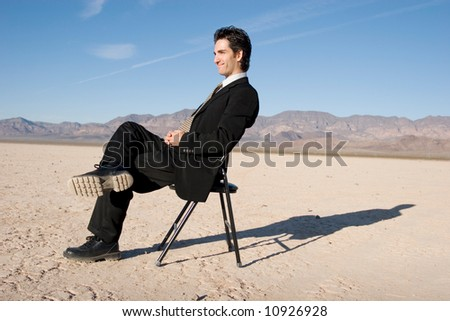 Businessman sitting on a chair