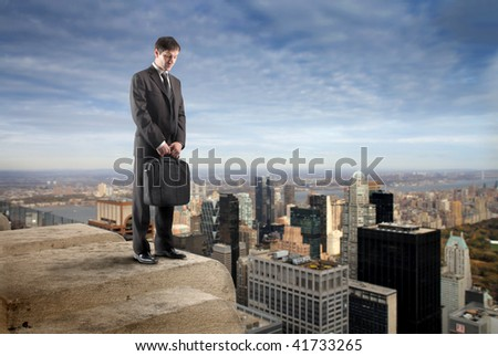 businessman suicide - stock photo