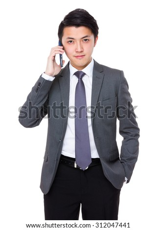 Businessman talk to cellphone