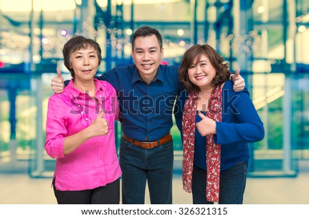 Businessman Teamwork on Office building blurred photo background, business concept - stock photo