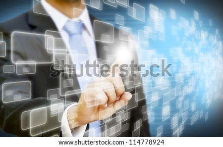 Businessman technology concept