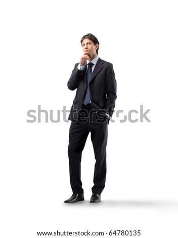 Businessman thinking - stock photo