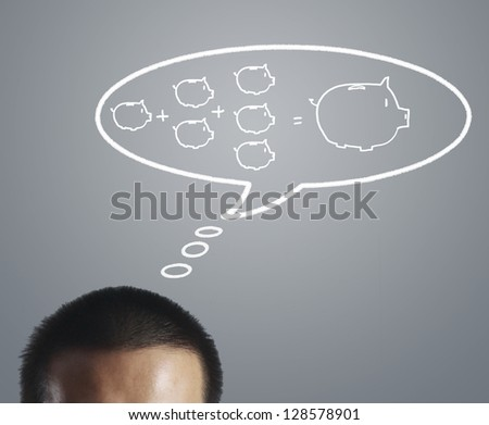 Businessman thinking about money - stock photo