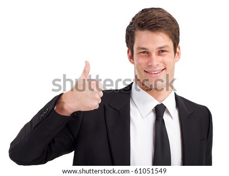 businessman thumb up - stock photo