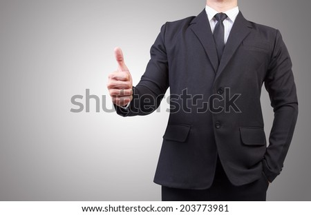 businessman thumb up idea concept for success business - stock photo