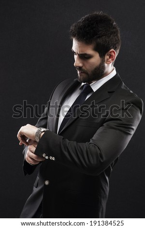 Businessman time - stock photo