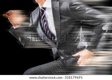 businessman to run - stock photo