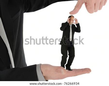 businessman under pressure - stock photo