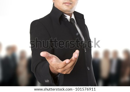 Businessman : Welcome to our team - stock photo